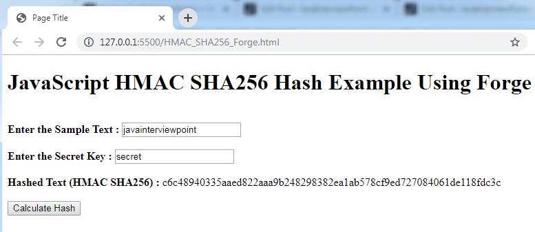hmac sha256 key generator java